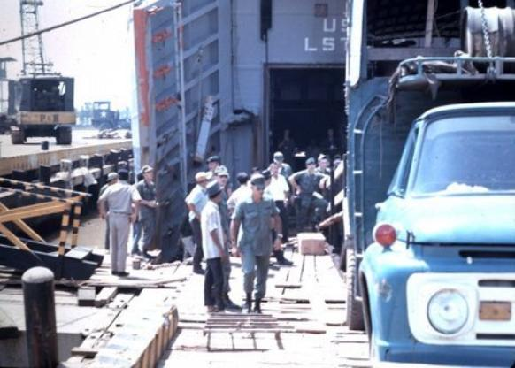 Unloading Cattle From An LST