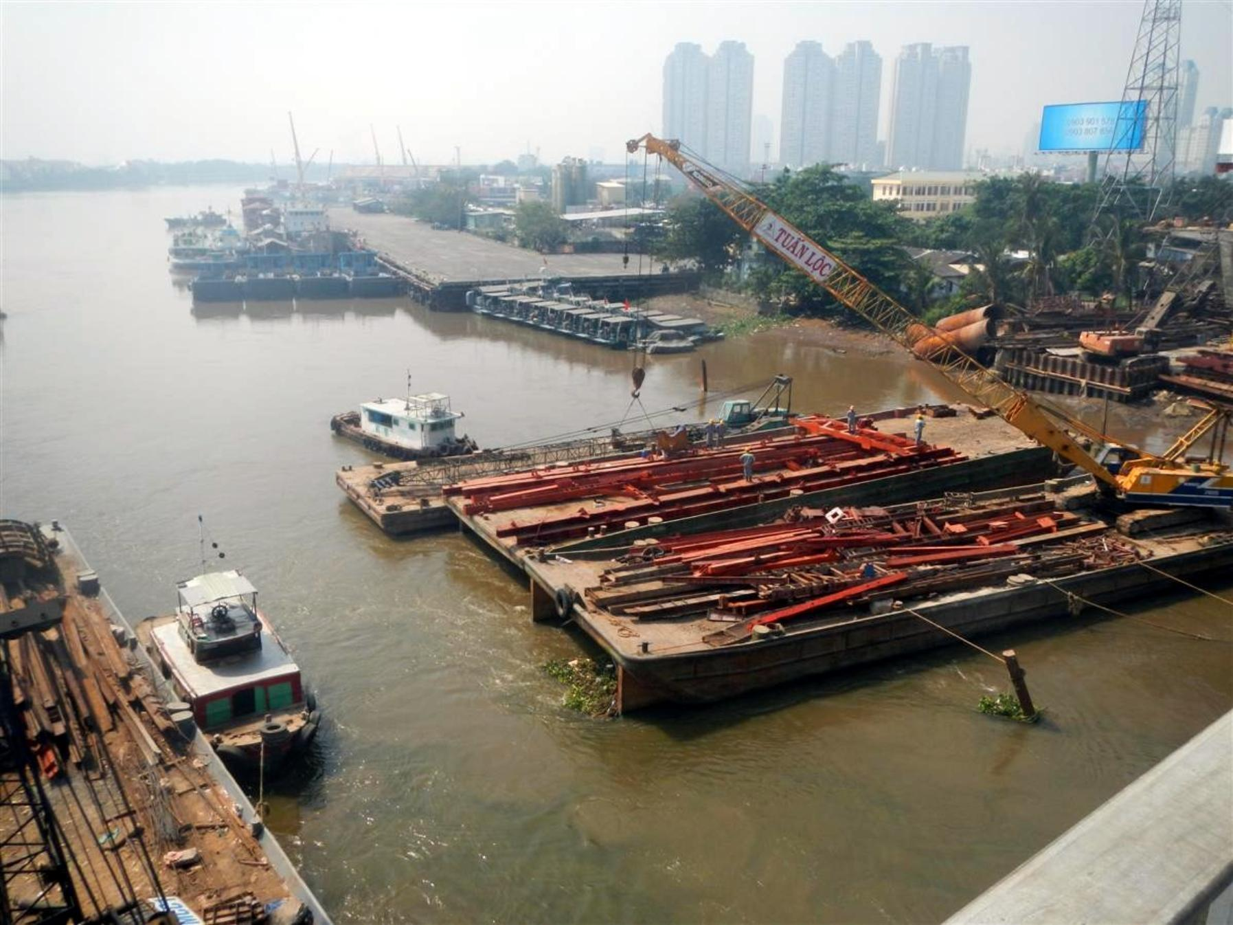 Construction Near The Barge Site