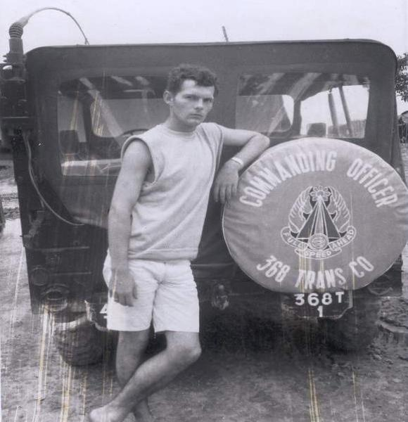 Joe Rodman With The 368th CO's Jeep