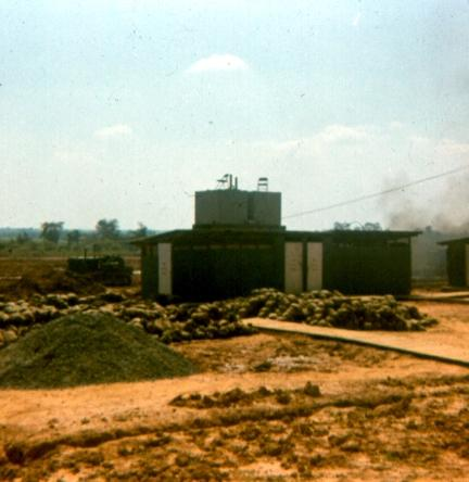 The Beginning Of The 71st Outdoor Theater Where We Saw USO Shows And Movies At Night - With  Battalion Headquarters In Right Background And USARV Headquarters In Upper Left Background