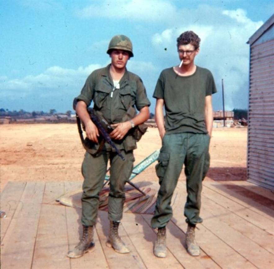 Left - SP/4 Al Krabbenhoeft - Right - PFC Hoffman At Camelot Morning Of February 2, 1968