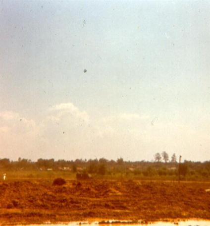 Left - Perimeter Of Camelot - Bearcat Road With APC And Gook Village Beyond - Right - Photo Taken From Camelot  - Tank Running A Little Hot Headed Down Bearcat Road Toward Highway #1A
