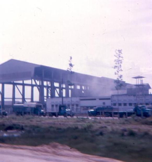 Left - Concrete Factory Along Highway #1A - Right - ARVN Troops On North Side Of Newport Bridge