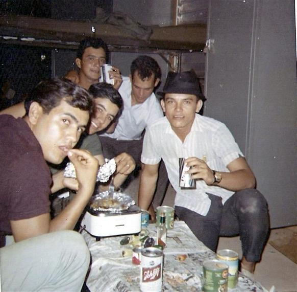 Christmas Day 1967 - Enjoying Some Time With The Guys - Salinas To My Left - Having A Home Meal