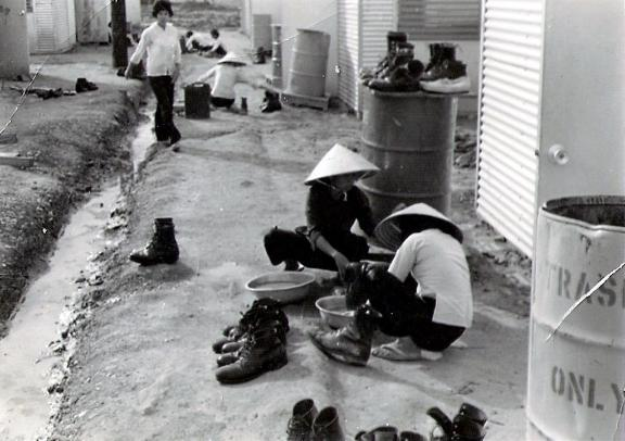 It was nice to have the hootch girls clean our boots every day.
