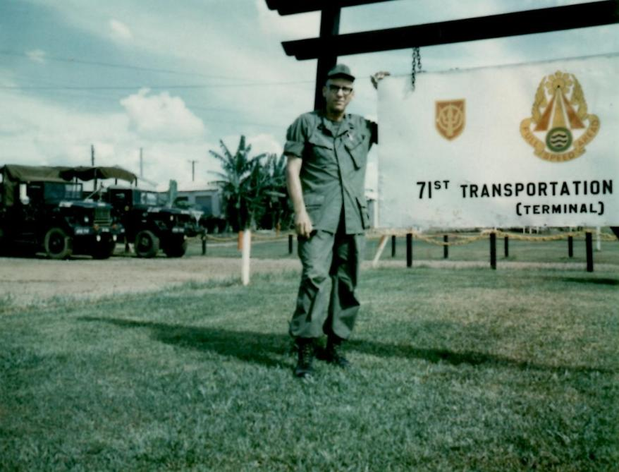 CSM Anthony J. Young - Standing Next To The 71st Sign At Camp Camelot
