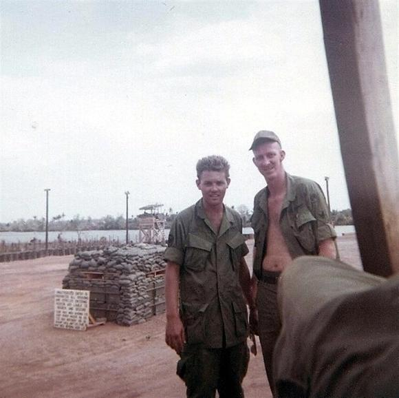Buddy Hall And C.W. Benton Smiling About Something At The Bien Hoa Site