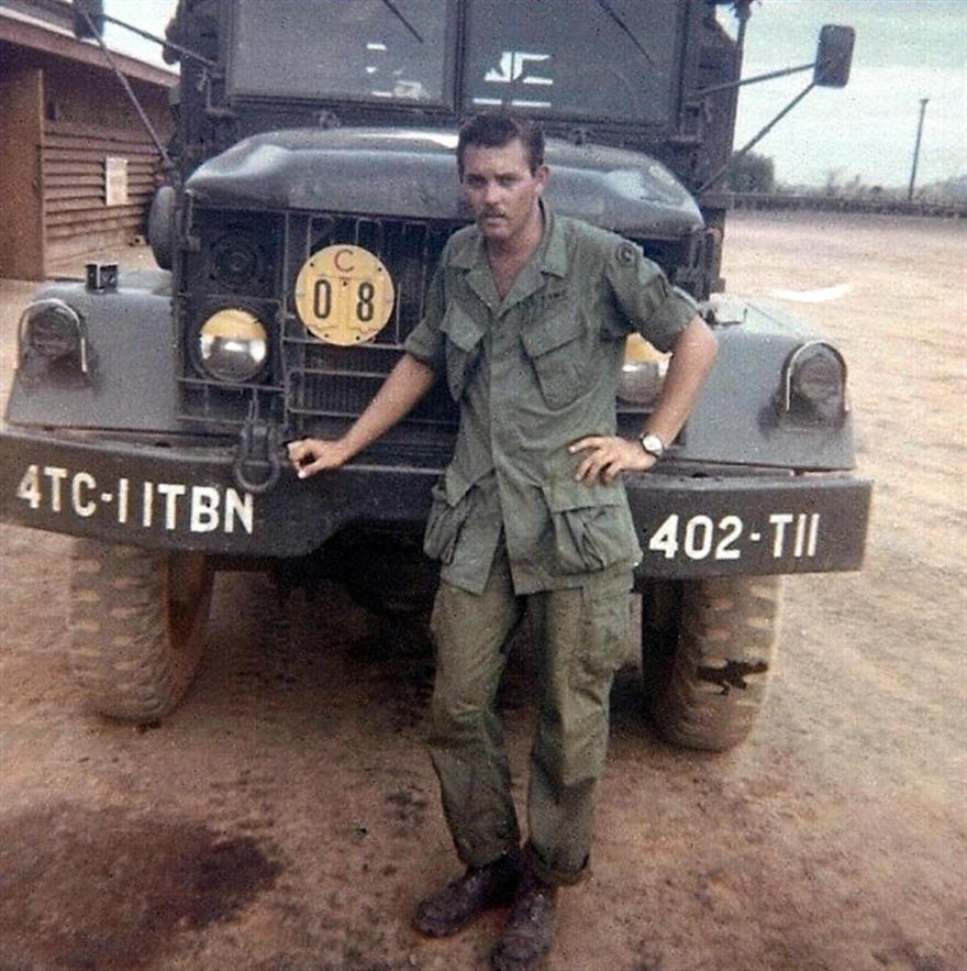 Buddy Standing In Front Of The Tuck That Took Us To The Bien Hoa Site