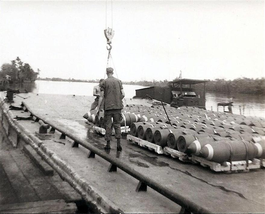 C.W. Walking The Barge At The Buu Long Site