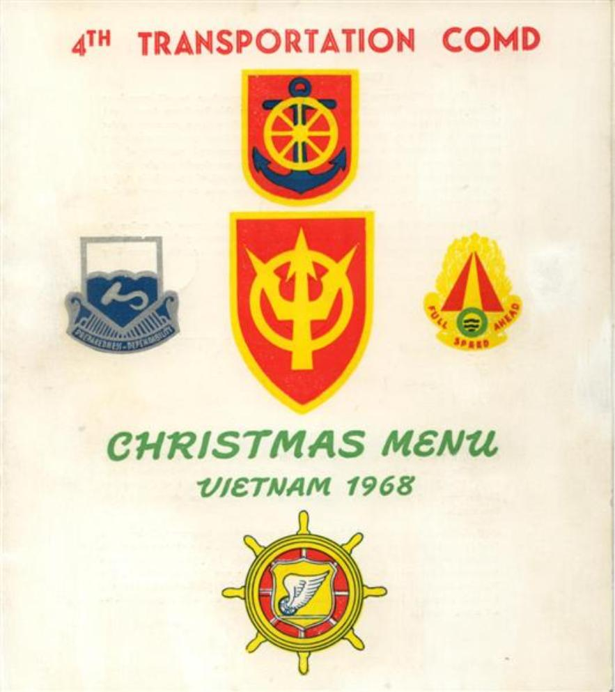 4th Trans Command Christmas Menu And Insert