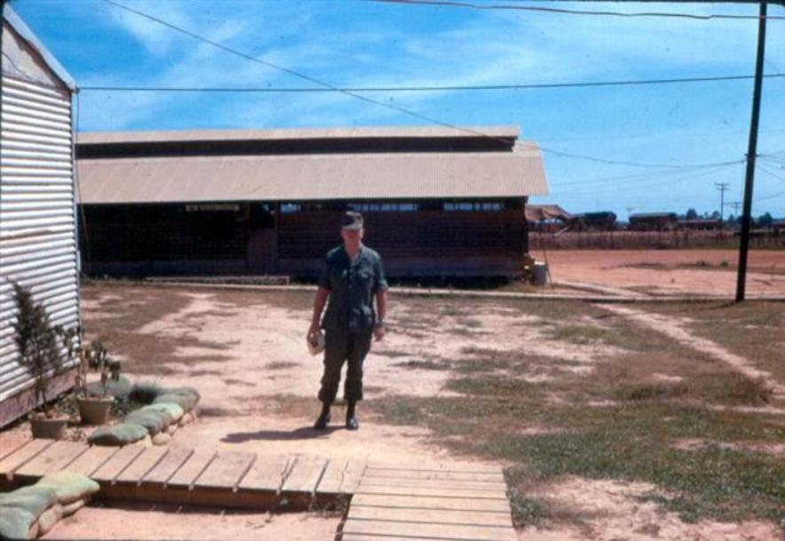 Lt. Doyle Gaither In Front Of Colonel's Hootch - Note Green Painted Sandbags