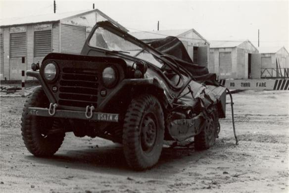 Jeep Hit By Tank
