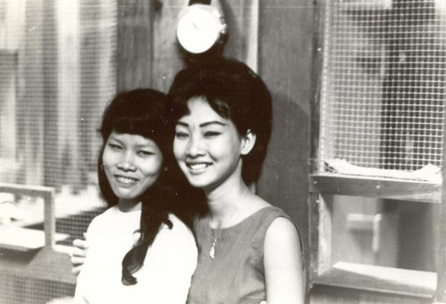 Nguyen Thi Bach Tuyet On Left - Miss Houng On Right - Tuyet wanted to go to UCLA near where I lived.  Miss Houng was married to an RVN GI killed by the VC.  Both were sweethearts working at II Field Force. Right Photo - Miss Tot Working At The PX