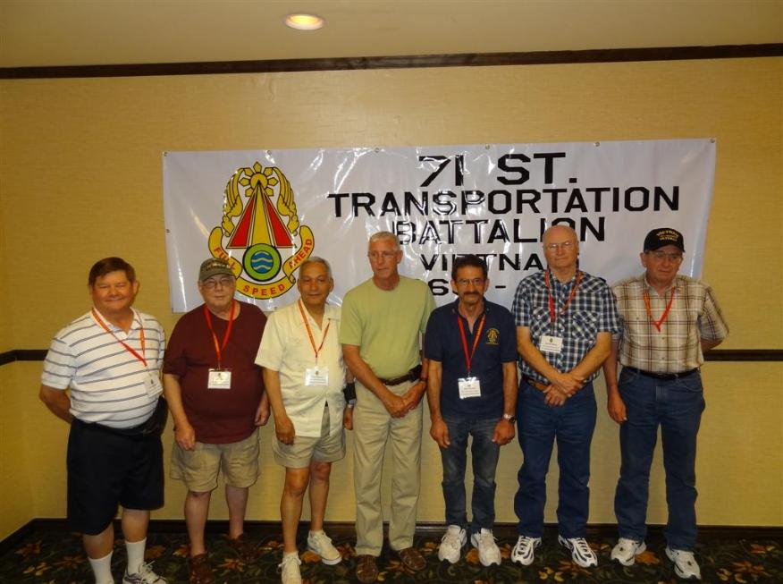154th TC Members - Tom Poston - Carlos Sisneros - Tony Bracero - Harry Shelton - Al Furtado - Harold Sharp - Vernon Allen - Photo courtesy of Tom & Lilia Poston