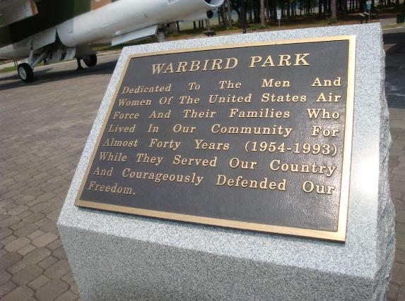 Warbird Park - The site of the former Myrtle Beach Air Force Base. - Photo courtesy of Al & Carol Furtado.