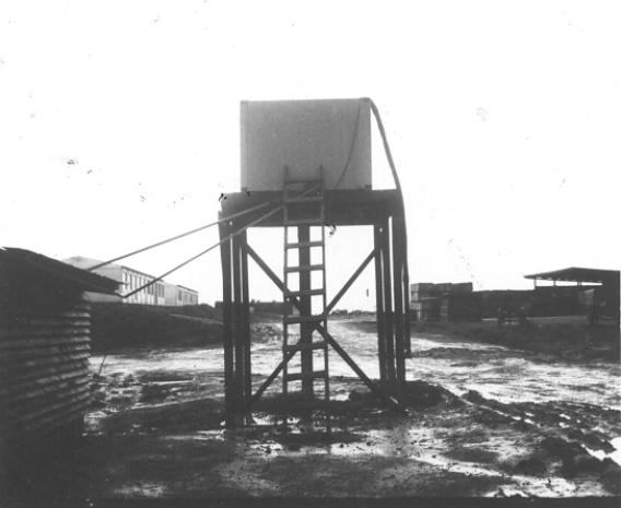 Water Tower For Showers At Camp Camelot