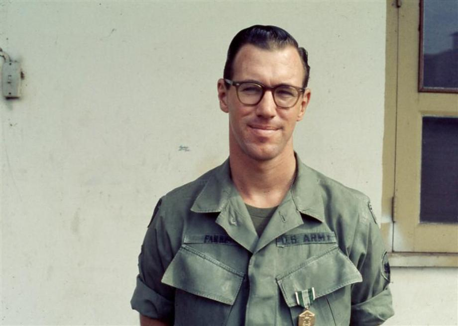 Greg Farris - Saigon Port - Just Received The Army Commendation Medal - Late 1969
