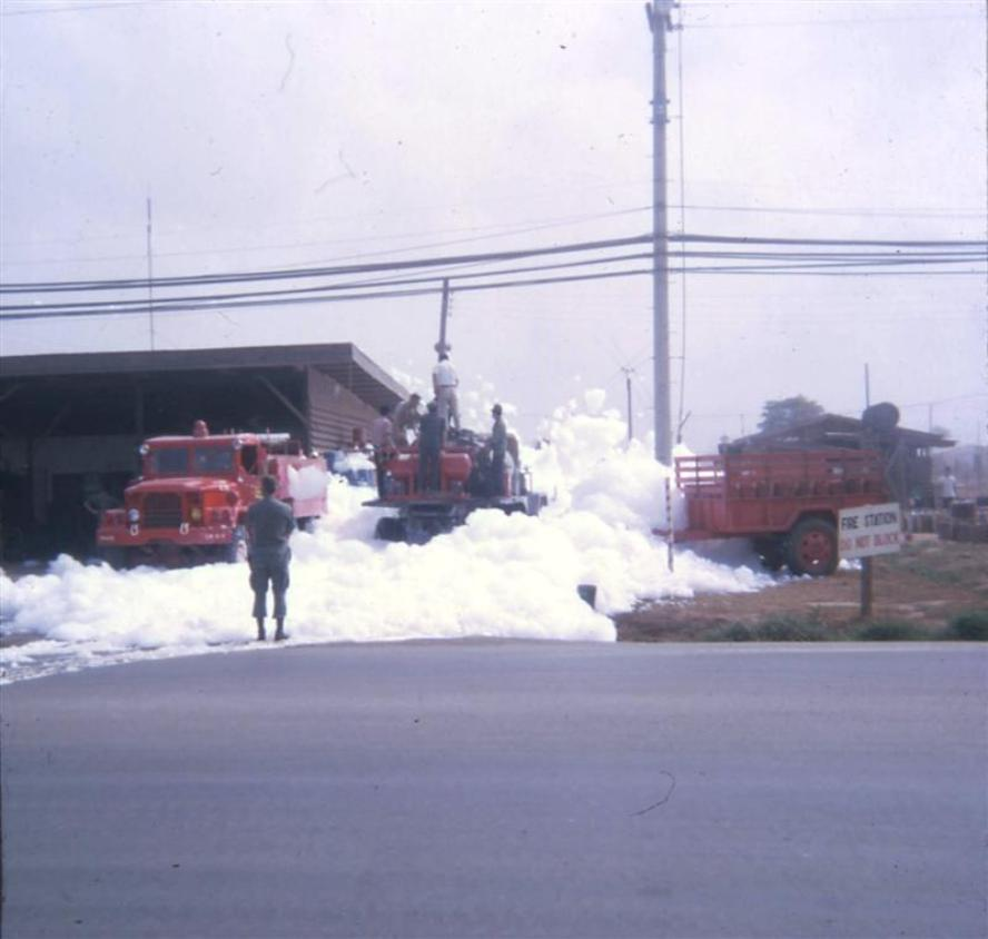 Long Binh Post Fire Department - Not Sure What's Going On With All The Foam