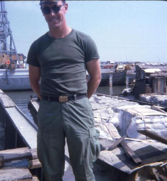 Me - Greg Farris - At Barge Site - March 1968