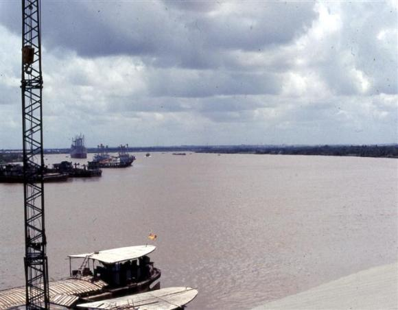 Looking South At The Saigon River From Camp Davies