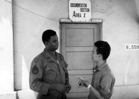 Gate 3 Worker Mr. Loi With SSGT Robinson