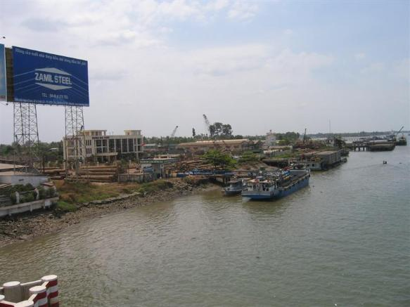 Another View Of The Dong Nai River Barge Complex