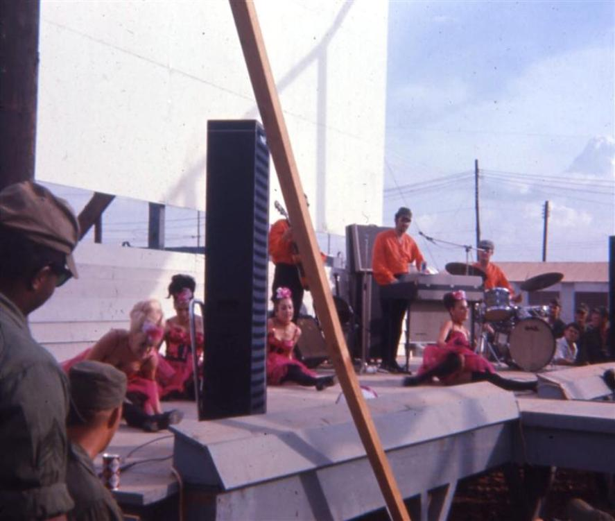 USO Show At Camp Camelot - Late 1967 - Webmaster: Al Furtado - I also took photos of this same show.  They are on  photo page 11. On the next photo below, Greg actually has me in the photo. This is the first time I saw a photo of myself taken from someone I didn't know at the time.You made my day Greg.