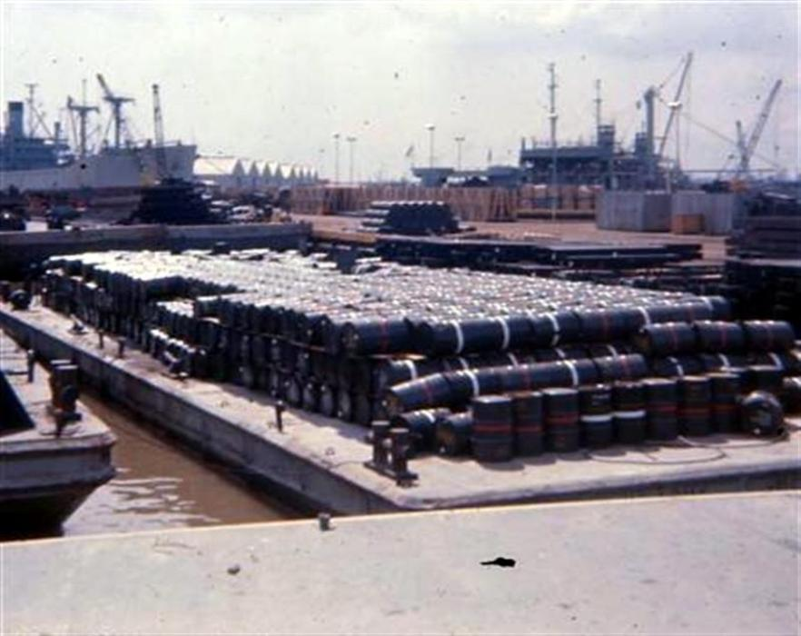 Newport Barge Site - Barges Full Of Agent Orange Agent White