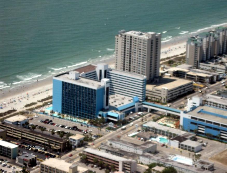 LandMark Resort from the air. Photo courtest of Rich Morawa.