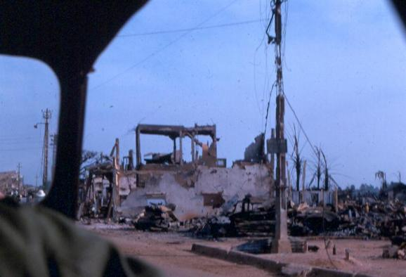 Some Damage In The Saigon Area After TET 1968