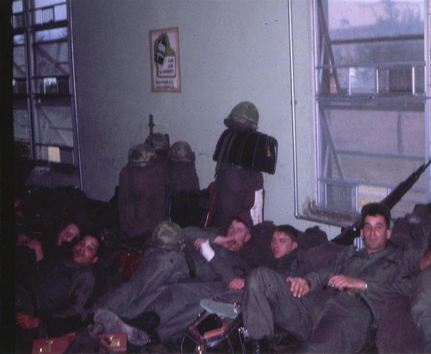 The Hurry Up And Wait Routine - All Packed Up And Waiting To Leave Okinawa To Head For Vietnam.Arriving in Vietnam January 1, 1967