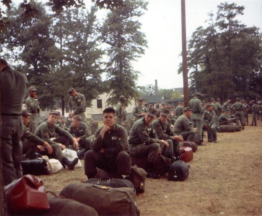 Jim, Waiting To Be Shipped Out At Fort Meade, MD -  Members of the newly Re-formed 154th Transportation Company at Fort George G. Meade, Maryland, waiting to be shipped out to a destination unknown to them. August - September 1966