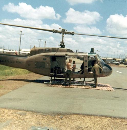 Chopper At 24tn Evacuation Hospital