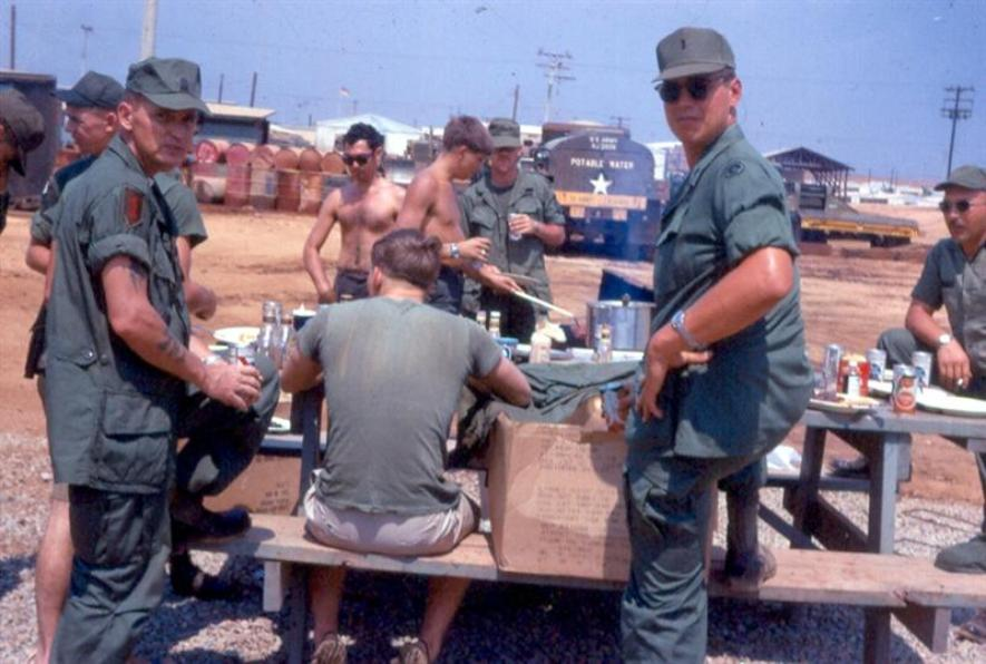 A Steak Dinner At The 372nd Company Area At Camp Camelot