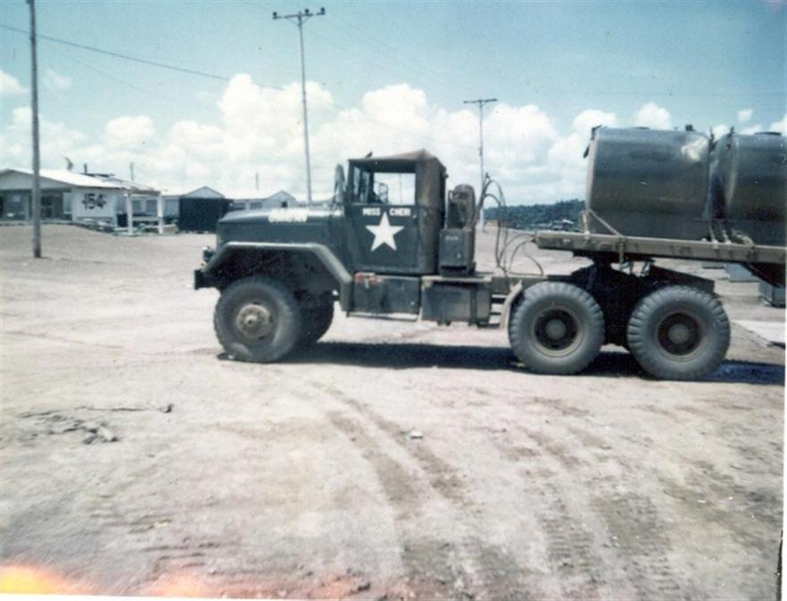 My Truck - Miss Cheri - Hauling Water Pods - 154th TC Sign In Backgroung