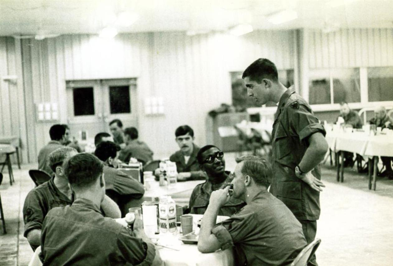 Opening Day At The New Mess Hall At Newport Terminal - May 1968 - Lt Colucci Standing Up