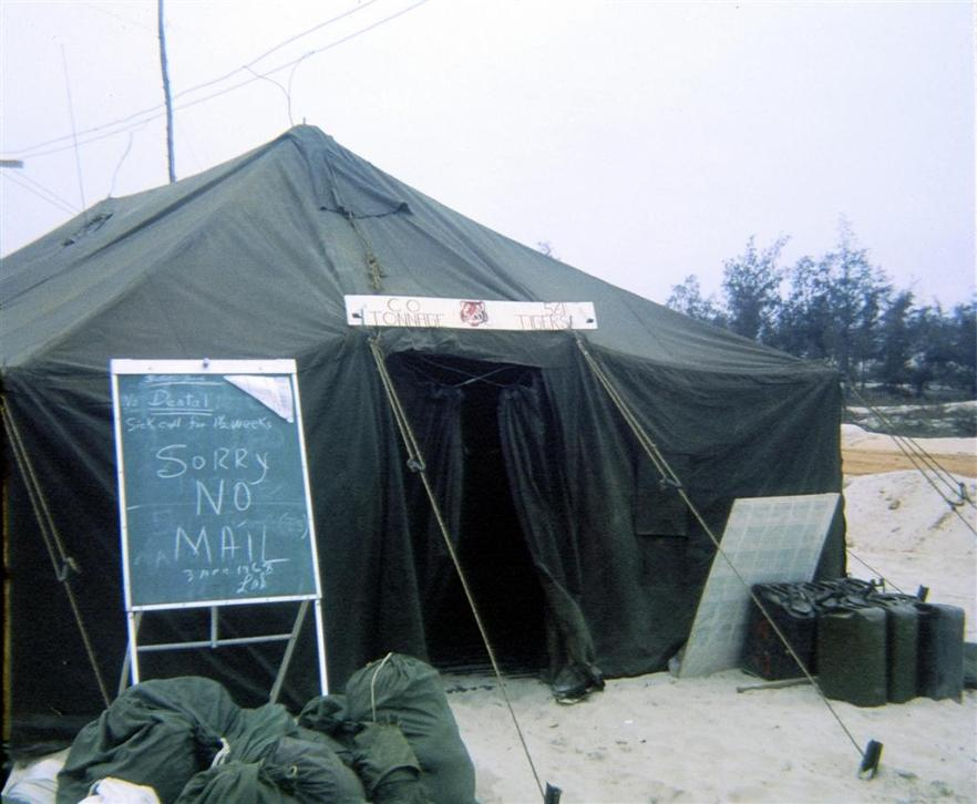 561st Transportation Company Tent At Dong Ha Just After Arriving