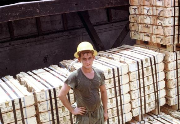 Stevedore In An Ammo Barge