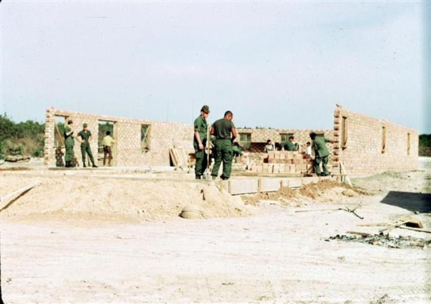 Building Of The New Orphanage By The 71st Transportation Battalion