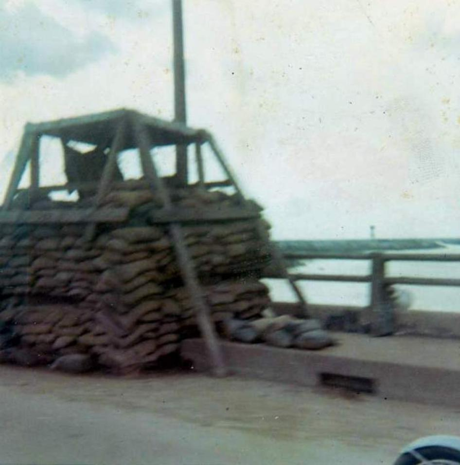 Guard Post On The Newport Bridge - October 1968