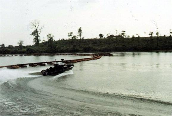 PBR Boats Patroling The River At The Binh Hoa Barge Site Area