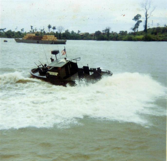 PBR Patrolling The River At The Binh Hoa Site - They could turn on a dime.