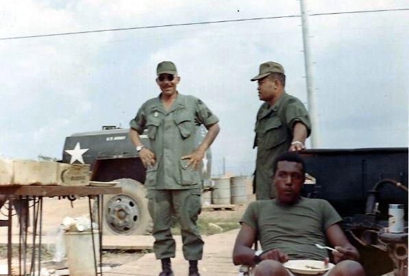 Platoon Party - Sergeants Swanger & Wilson Standing Up - Reid Sitting - Nov 68
