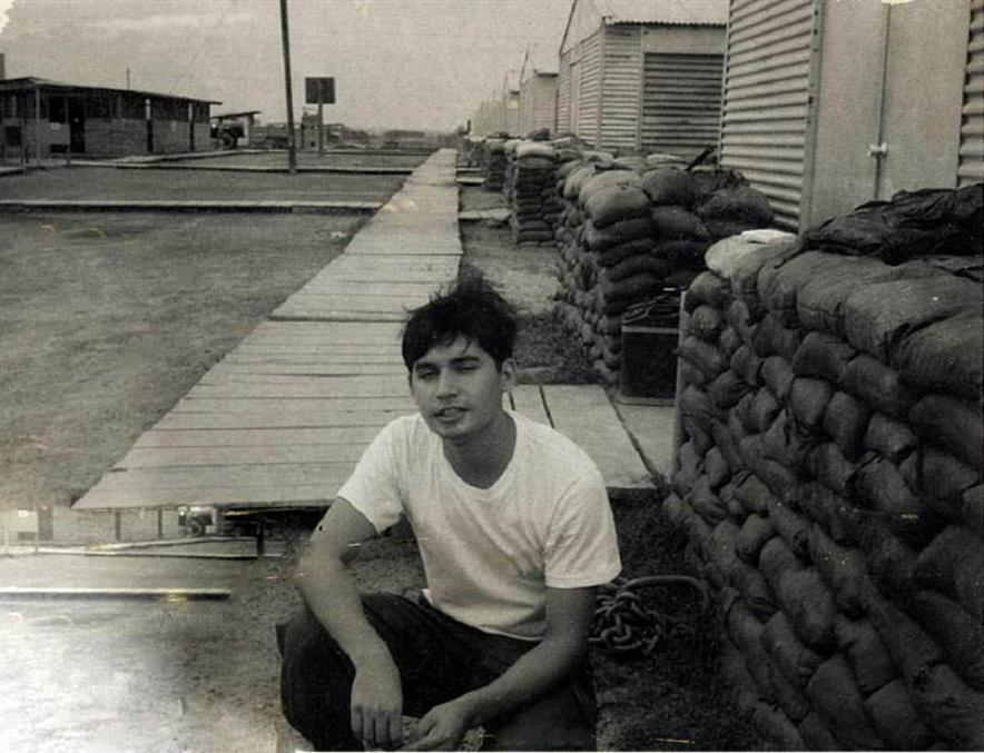 Ron Chavez - Back Of 154th TC Company Area - 154th Showers In The Background