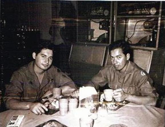 Two Photos Above - My Cousin Ralph From The 9th Inf Div Visiting Me At Camp Camelot