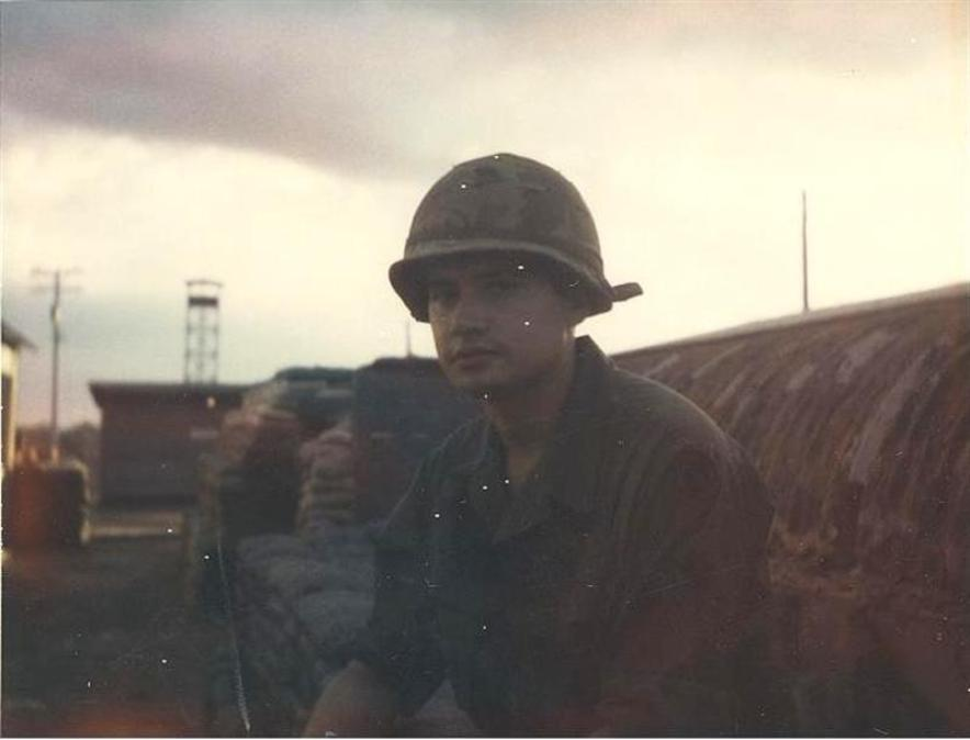 Here I Am On Nov 14, 1968 - 65 Foot Guard Tower In The Background