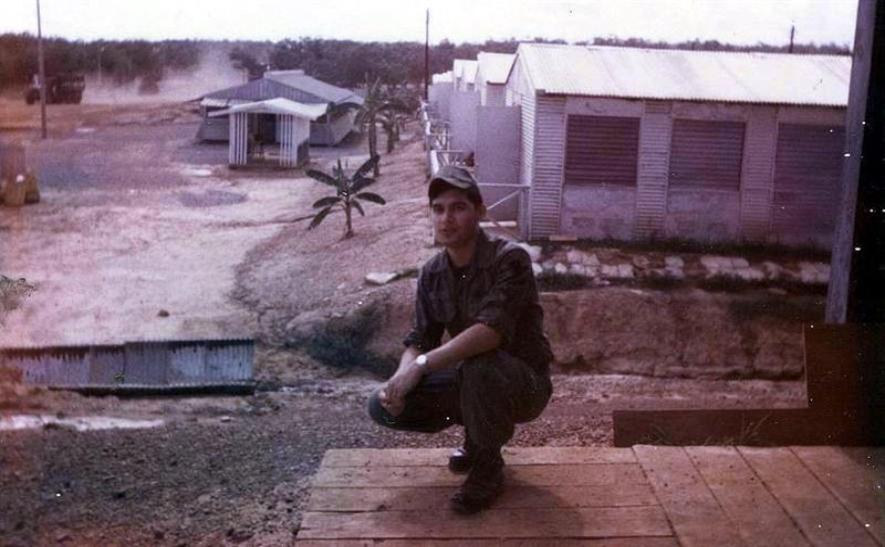 Ronald Chavez - In Front Of Mess Hall - 368th TC Behind Me