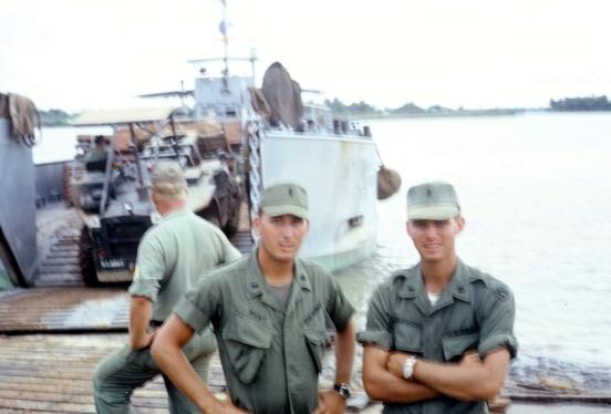 Lt Hunt And Harwood At Dong Tam In Mekong Delta