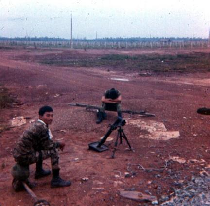 ARVN Soldiers On North Side Of Newport Bridge - Mini Tet - May 1968