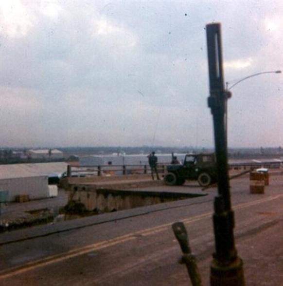 Morning Of May 13, 1968 - Damage To The Bridge After Last Night's Rocket Attack